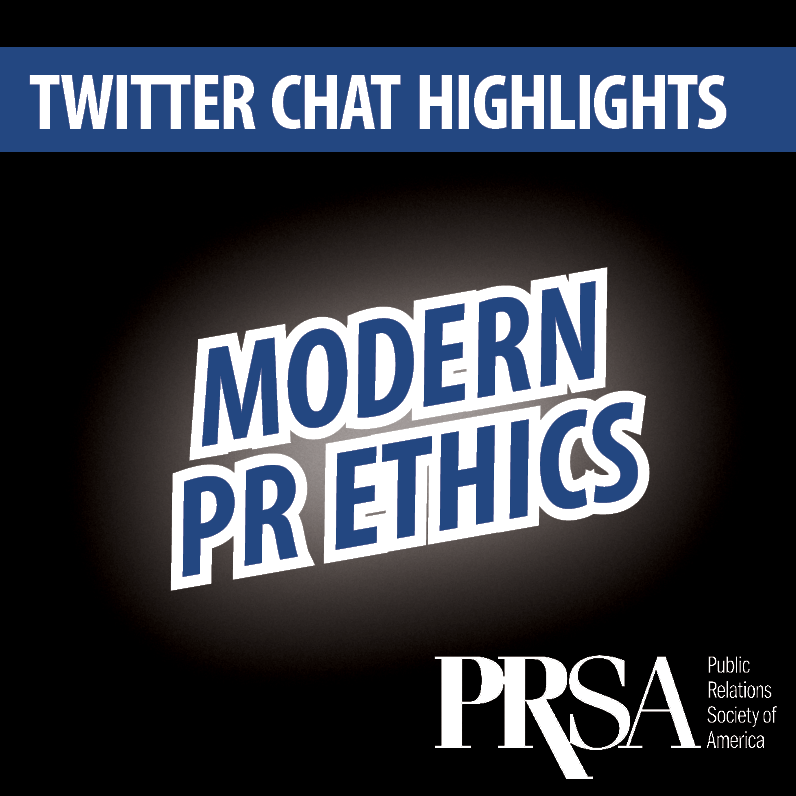Twitter Chat Highlights: Modern PR Ethics