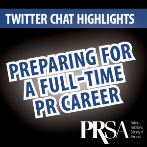 May Twitter Chat Highlights PR Career