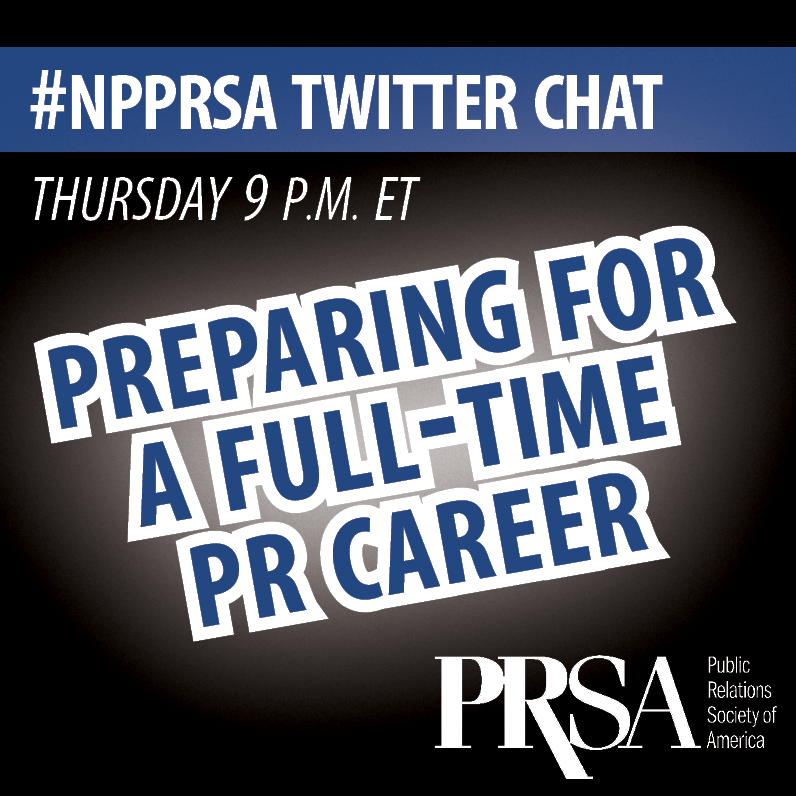 May Twitter Chat Square - PR Career