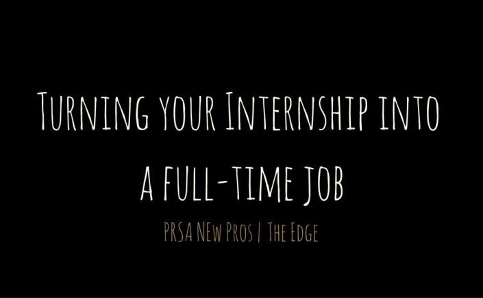 Turning your Internship into a full-time job